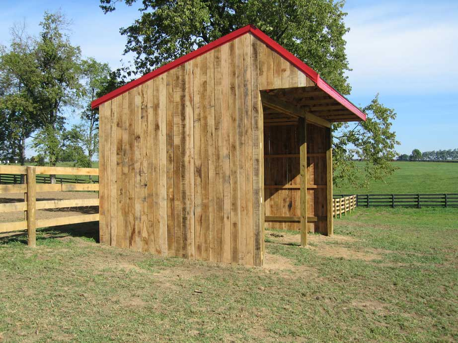 Run-In Shed and Fence