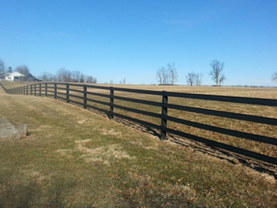 Here is a after picture of the repair done when a tornado picked up a barn and dropped it on this fence. As seen on this page CentaurHTP.